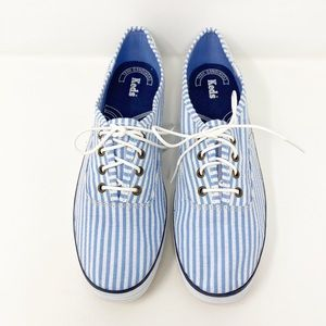KEDS Blue Seersucker Canvas Sneaker 10